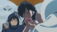 Nagi and Hodaka support Hina on her first job