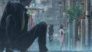 Hina runs away with Hodaka