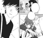 Hodaka sees the host bothering Hina