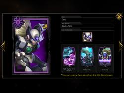 Zero - Black Zero skin in menu.png