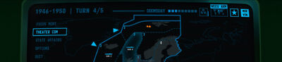 Visual of the 'Top Field' and the presentation of key information in Terminal Conflict