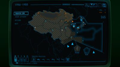 Visual of Warzones within the East Asian theater within Terminal Conflict