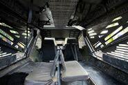 Interior of a rhino transport