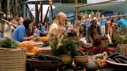 Terra Novans with Food on Sticks