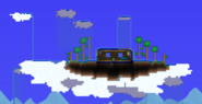 Isla flotante natural