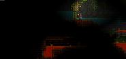 Entrada del Templo sumergida en Lava