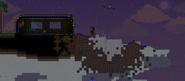 Meteorito en isla flotante