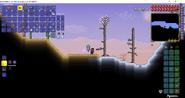 Desierto generado al final de la tundra del mapa