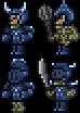 Blau Gepanzerte Knochen