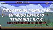 "Estrategias completas Cap.0 ""plataforma de combate"" Terraria 1.3.4"