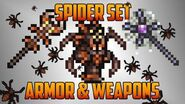 Terraria - Spider Set with Armor and Weapons..