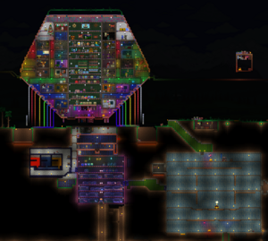 Ornate base with surrounding facilities.