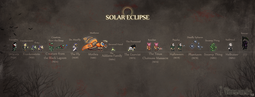 Solar Eclipse The Official Terraria Wiki Some of these are end game items that. solar eclipse the official terraria wiki