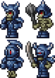 藍裝甲骷髏