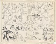 Roquefort and Percy model sheet