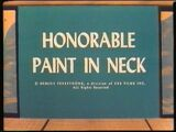 Honorable Paint in the Neck
