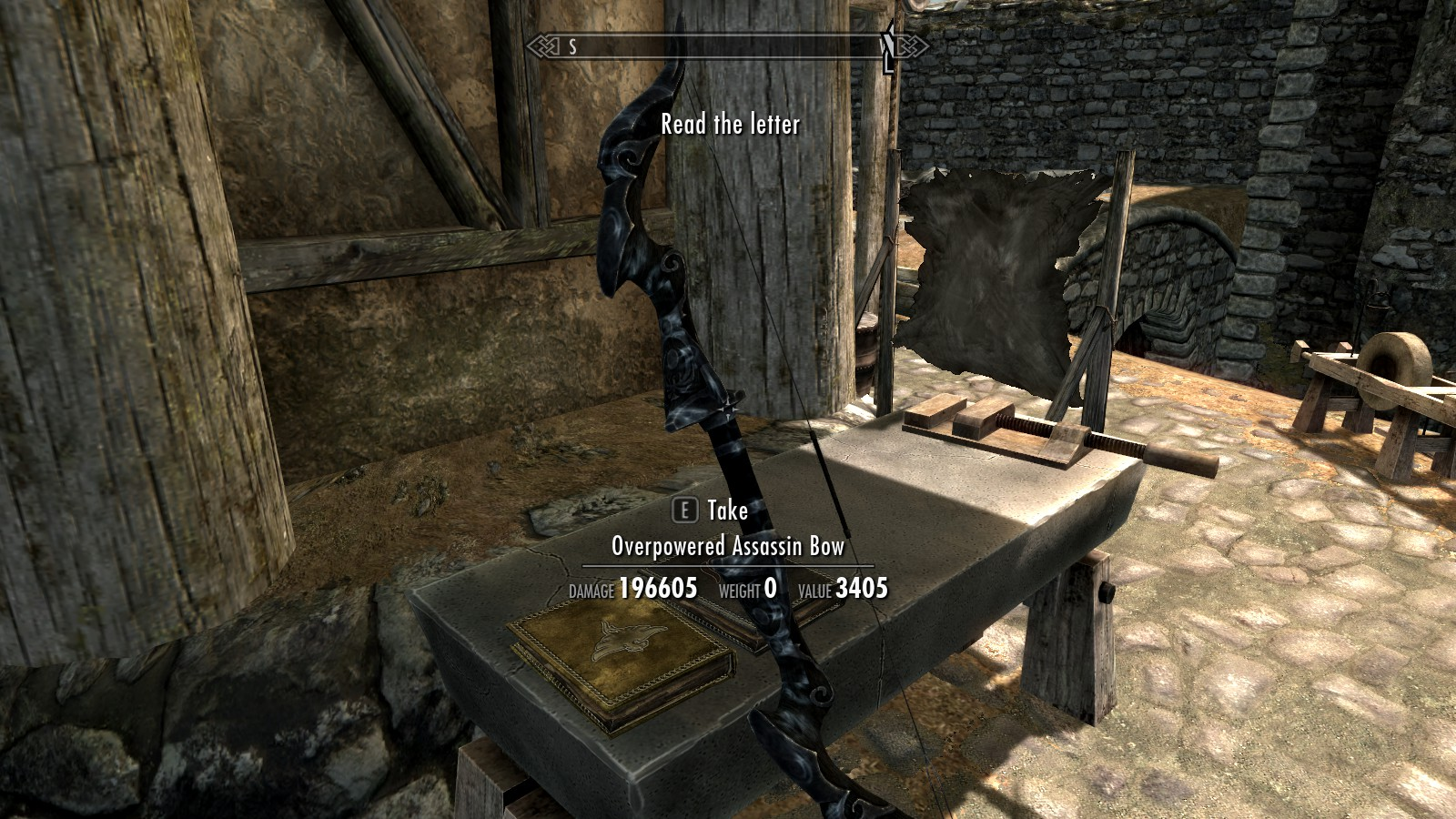Overpowered assassin bow