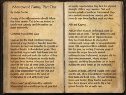 Morrowind Fauna, Part One Pg1.png