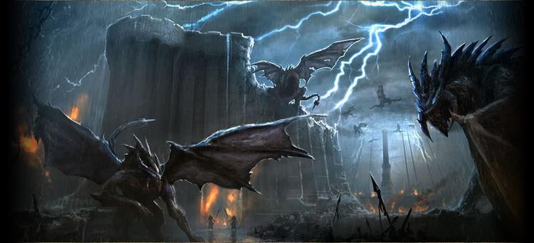 Daedric titan monster concept
