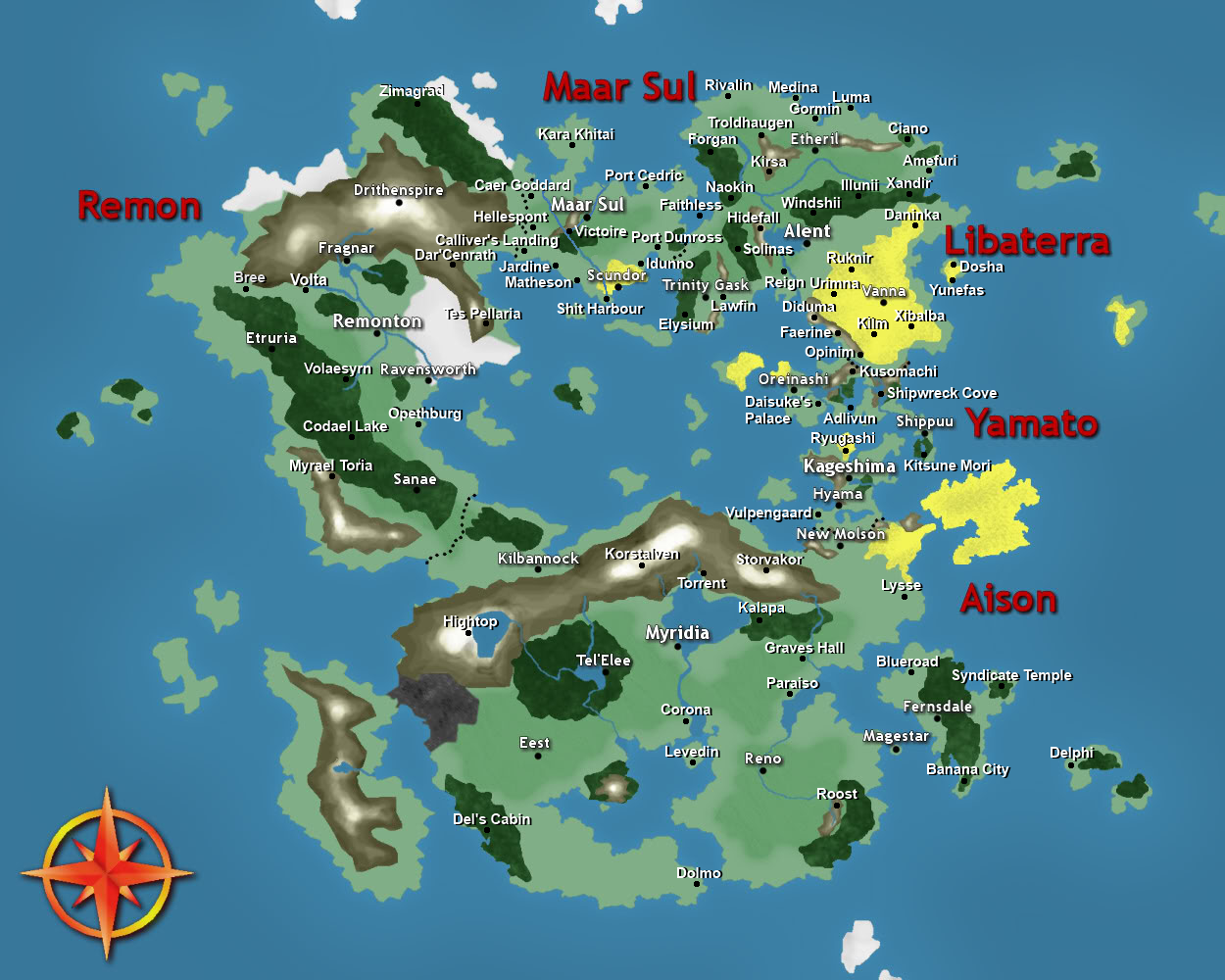 Godslayer Era Map