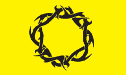 The flag of the Circle of Thorns