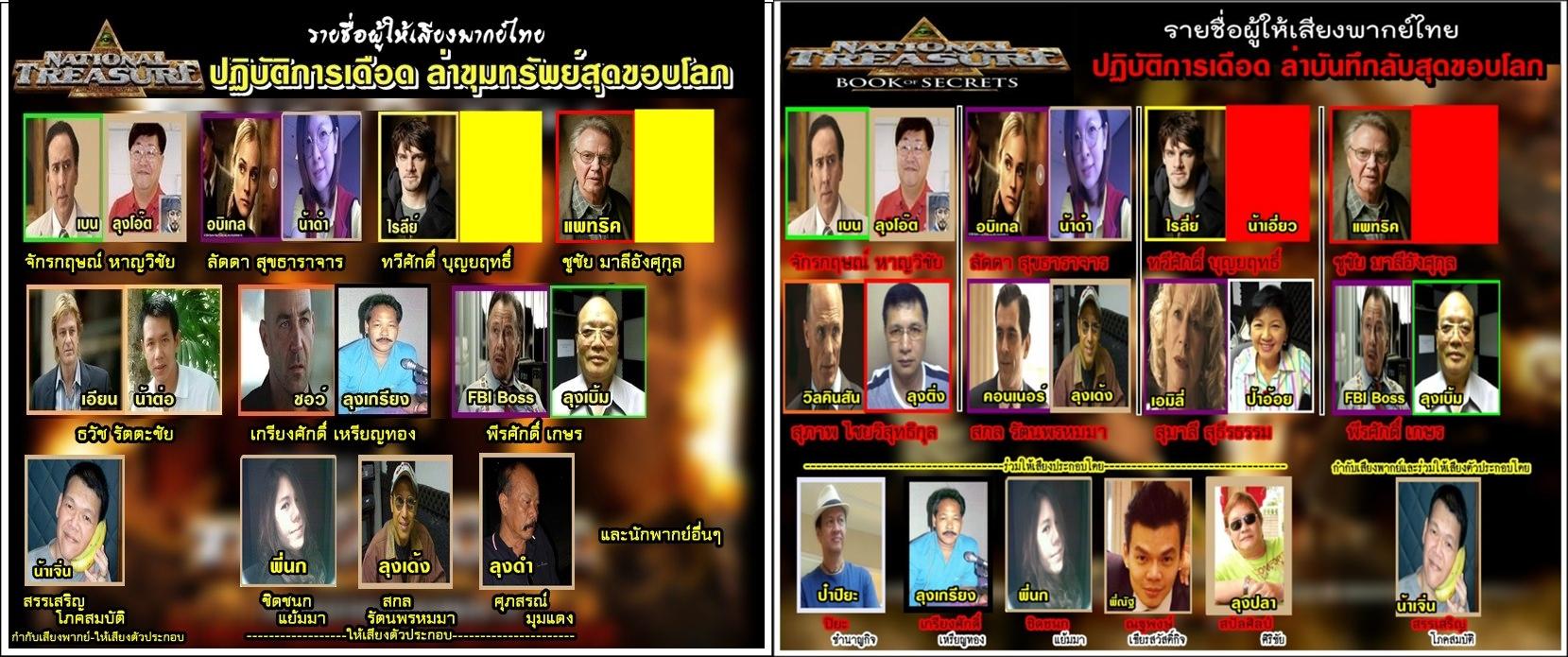 รายชื่อผู้ให้เสียงพากย์ไทย National Treasure.jpg