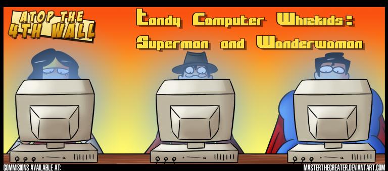 Superman and Wonder Woman: Tandy Computer Whiz Kids