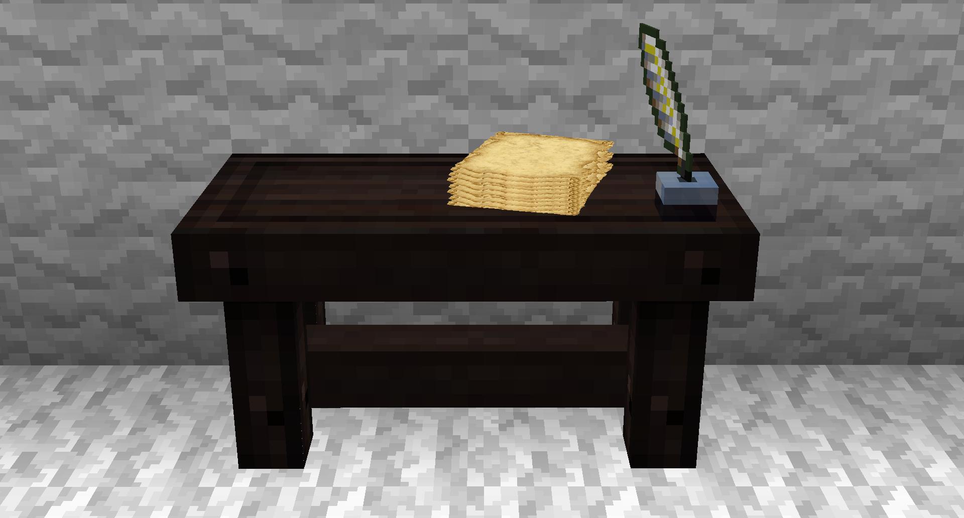 письменный стол как сделать майнкрафт