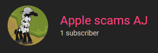 Apple scams AJ