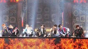방탄소년단, 여심 자극하는 마무리 포즈 'IDOL' @2018 SBS 가요대전