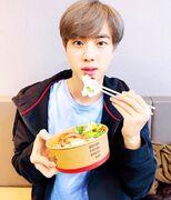 Jin eating 2