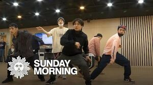 """BTS rehearses choreography of """"Boy With Luv"""""""