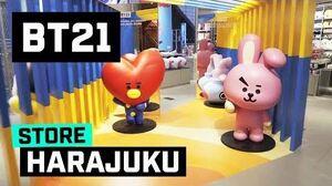 BT21 comes to LINE FRIENDS HARAJUKU store!