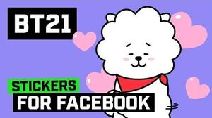 BT21 Stickers For Facebook Love & Peace