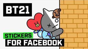 BT21 UNIVERSTAR BT21 makes its debut on Facebook!