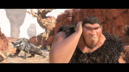 Bear Owl Spotted the Croods