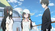 EP10 - Kimizuka and Yui with Nagisa on shipboard