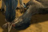 Blue Brow biting Broken Hand