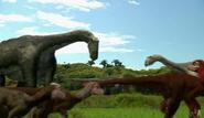 Pyroraptors and Ampelosaurus