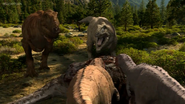 Female Carcharodontosaur roaring