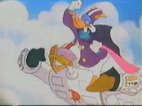 Darkwing Flying With Gizmoduck