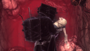 Dark Keeper carrying the daughter (side view)