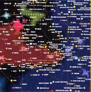 Map of Federation-Cardassian border