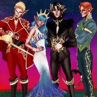 Cardan, Nicasia, Valerian and Locke by sktchesanmin