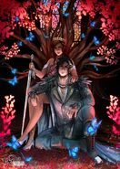 Cardan and Jude on throne