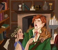 Taryn killing Locke by missescara