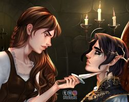 Jude and Cardan by KSENoir