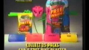 Monster Munch Monster Bike blaster and Bike Plates Advert 1992