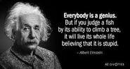 Fish Quote (Einstein)