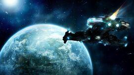 Spaceship-Alvera-Earth